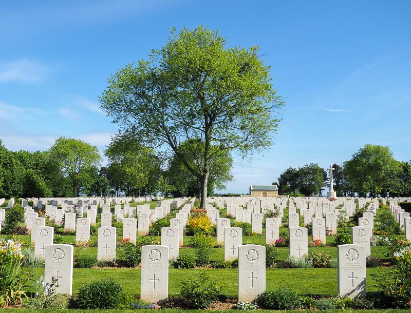 Cimetière canadien de la deuxième guerre mondiale en Normandie.