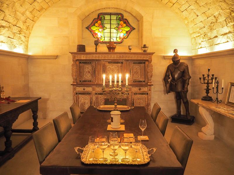 Salle de dégustation au Vignoble Ste-Agnès