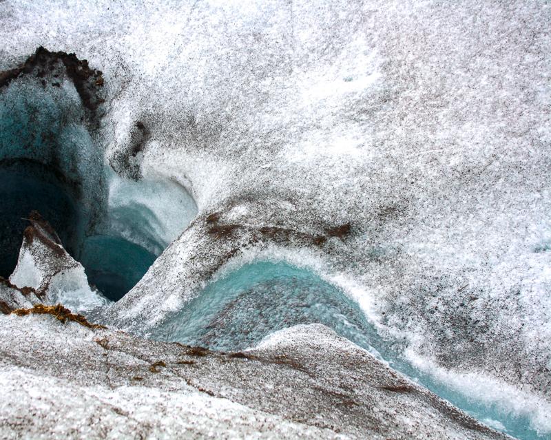 Glace du glacier Vatnajökull en Islande.