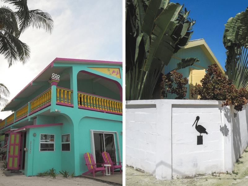 Maisons couleurs pastel sur l'île de Caye Caulker