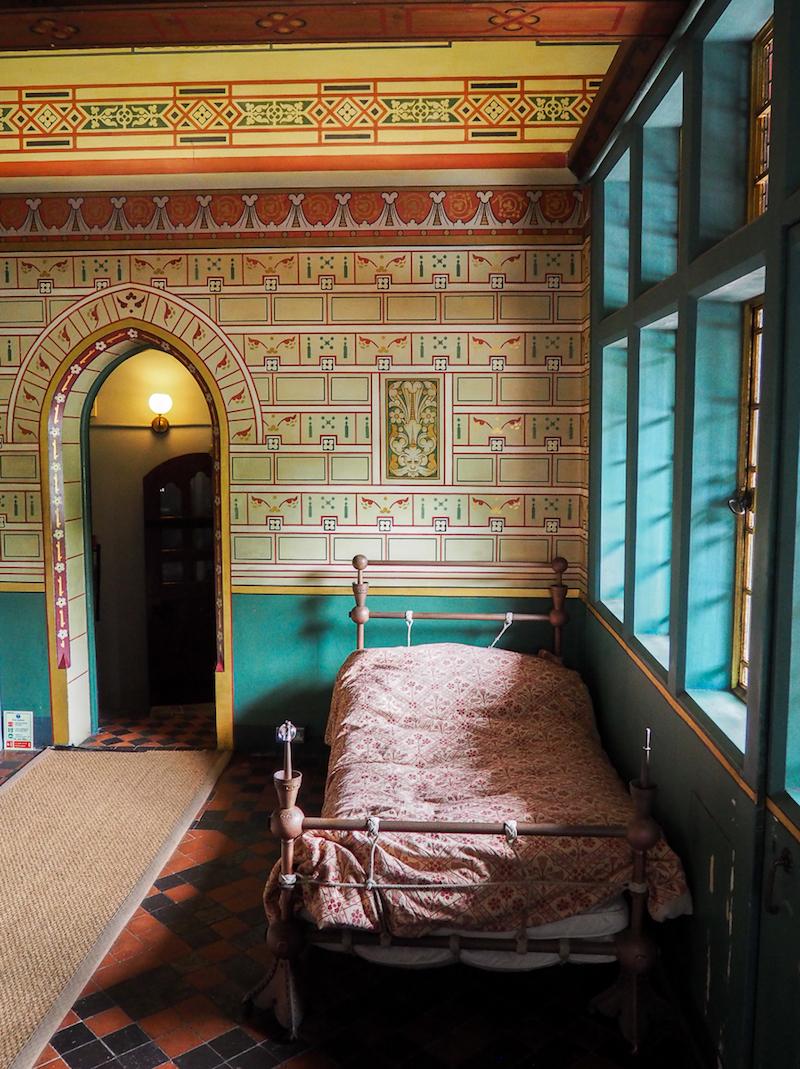 Chambre dans le Château Rouge du Pays de Galles