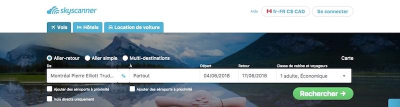 Comment trouver les vols au meilleur prix quand on connait nos dates de vacances.