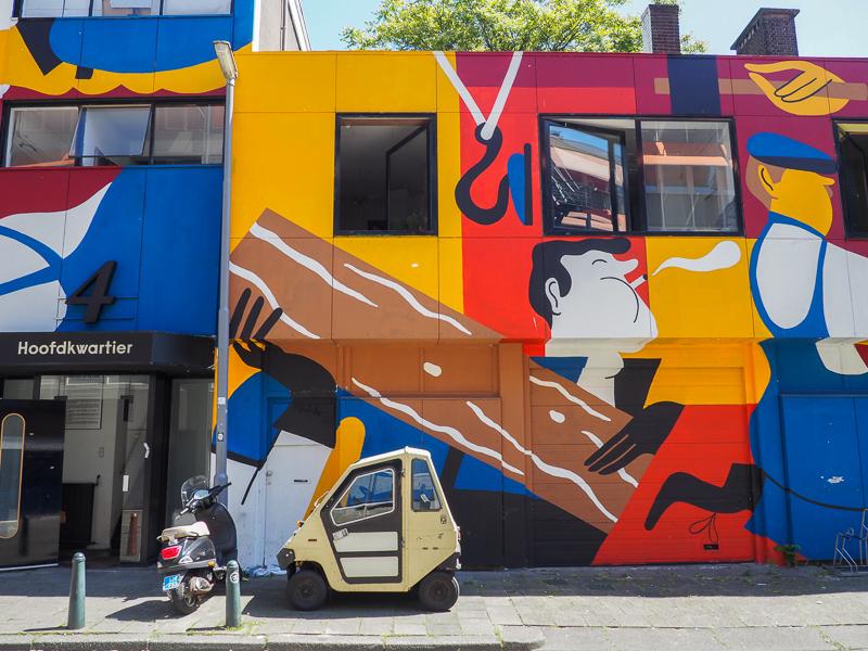 Murale réalisée par l'artiste Joren Joshua à Rotterdam