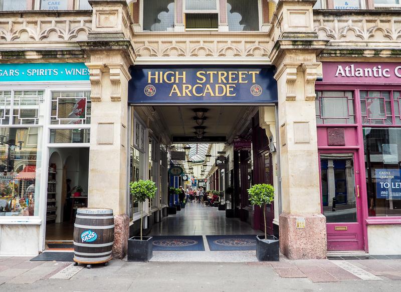 Arcade victorienne de Cardiff.