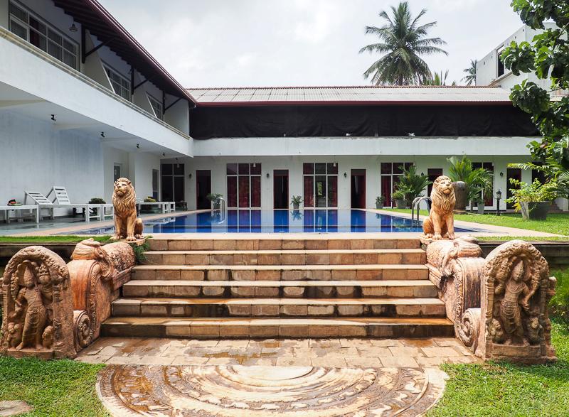 Notre hôtel bien confortable à Polonnaruwa au Sri Lanka