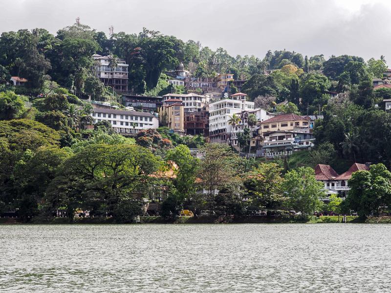 Ville de Kandy, au Sri Lanka