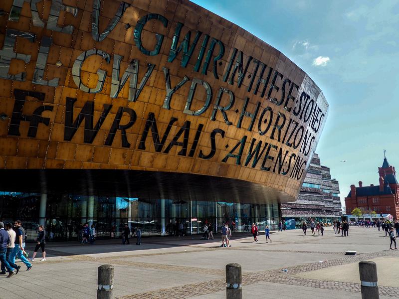Wales Millenium Center à Cardiff au Pays-de-Galles