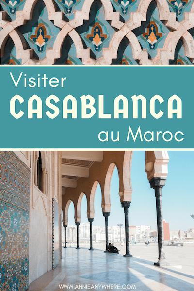 Quoi faire dans la ville de Casablanca au Maroc? Se laisser porter par la culture et visiter la magnifique mosquée Hassan II au bord de l'océan Atlantique. #Maroc #voyage #Casablanca #Africa
