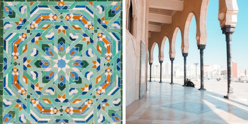 Détails de la mosquée Hassan II