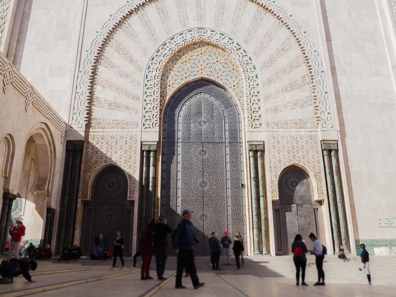 Portes de la mosquée Hassan II de Casablanca