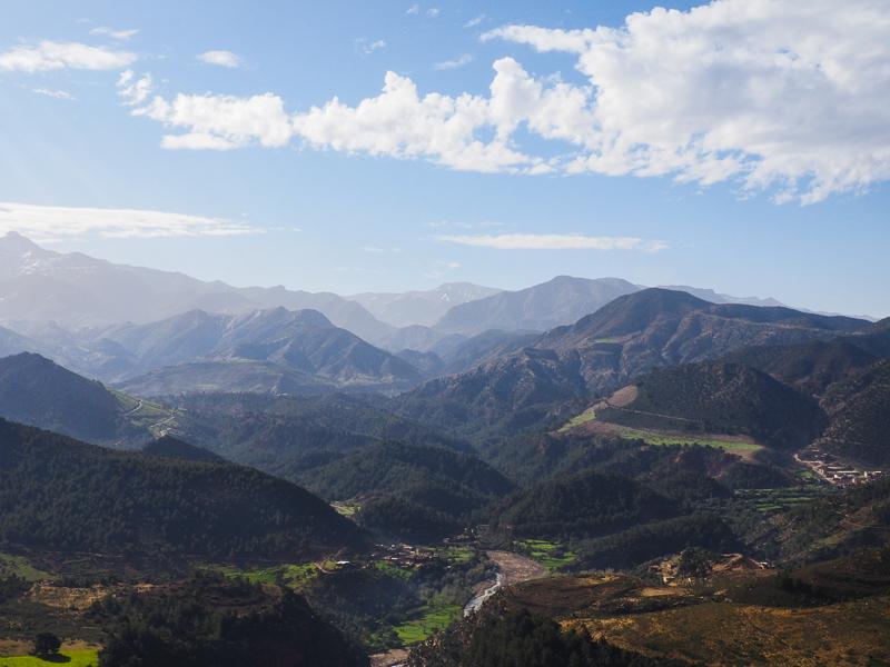 Haut Atlas - Montagnes au Maroc