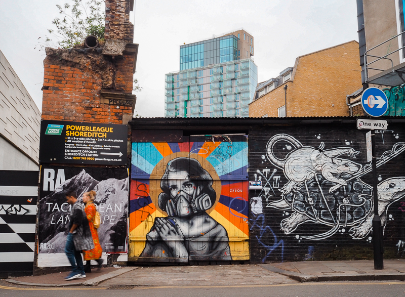Street art dans le quartier Shoreditch de Londres