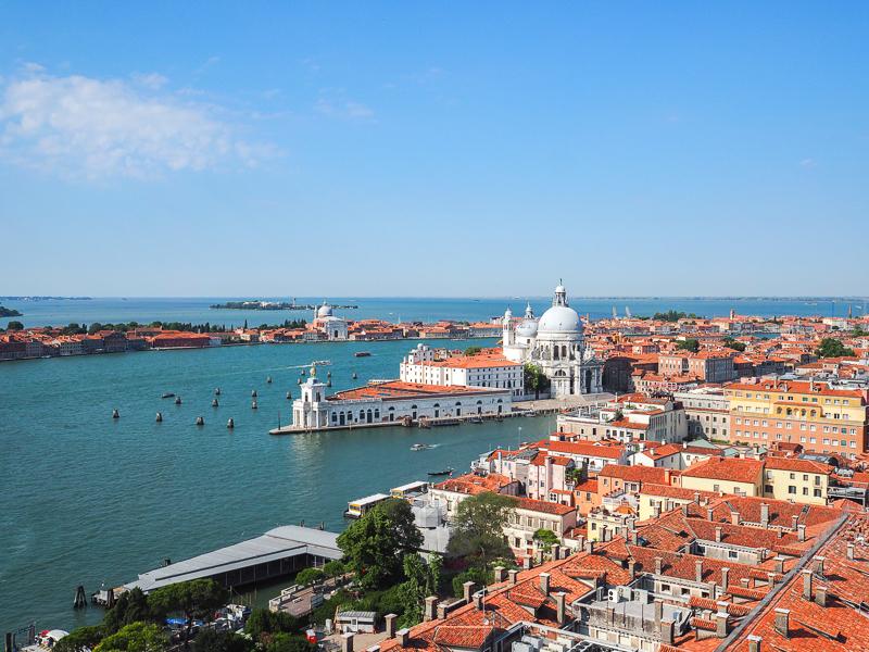 Vue sur la lagune depuis le campanile de Venise