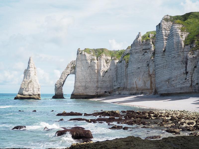 Paysage d'Étretat en Normandie
