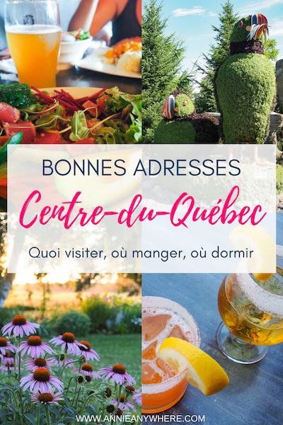 Vous voyagez au Québec? Voici quelques arrêts à faire entre Montréal et Québec, car oui, il y a plein de bonnes adresses dans la région Centre-du-Québec. Cliquez pour savoir quoi visiter, où manger et où dormir.