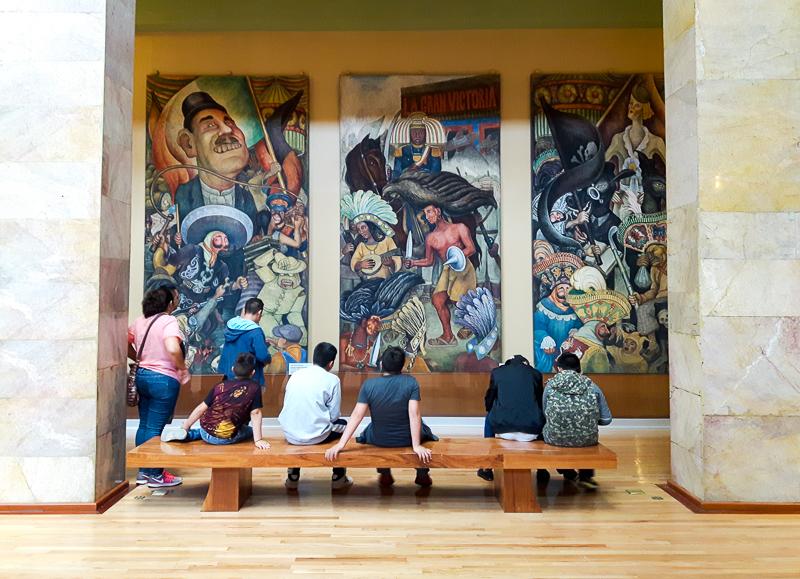 Oeuvre de Rivera au Bellas Artes de Mexico City