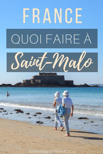 En voyage en France, j'ai eu la chance de visiter la ville de Saint-Malo, dites la cité corsaire. Station balnéaire en Bretagne, la ville vous mets tout de suite dans l'ambiance des vacances. Découvrez quoi visiter dans cette ville de France.