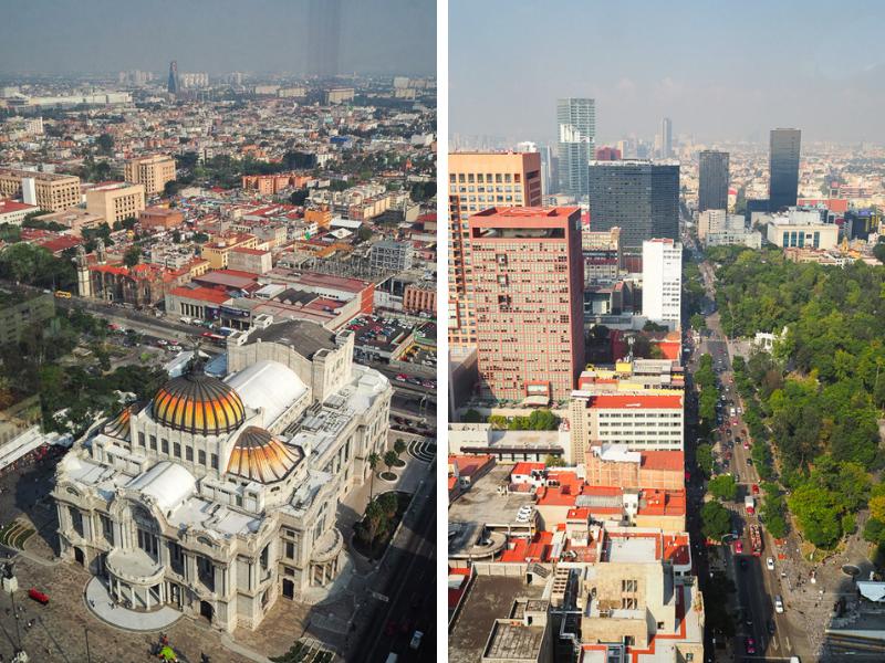 Vue panoramique de la ville de Mexico City à partir de la Torre latinoamerica - Bellas Artes