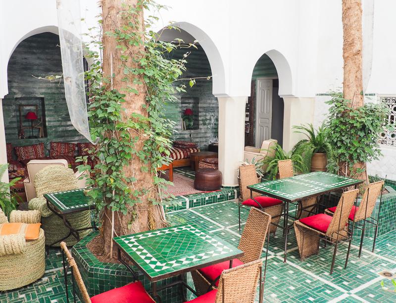Cour intérieur du Riad Vert à Marrakech