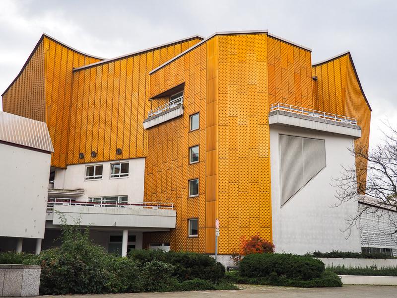 Bâtiment or de l'orchestre philharmonique de Berlin