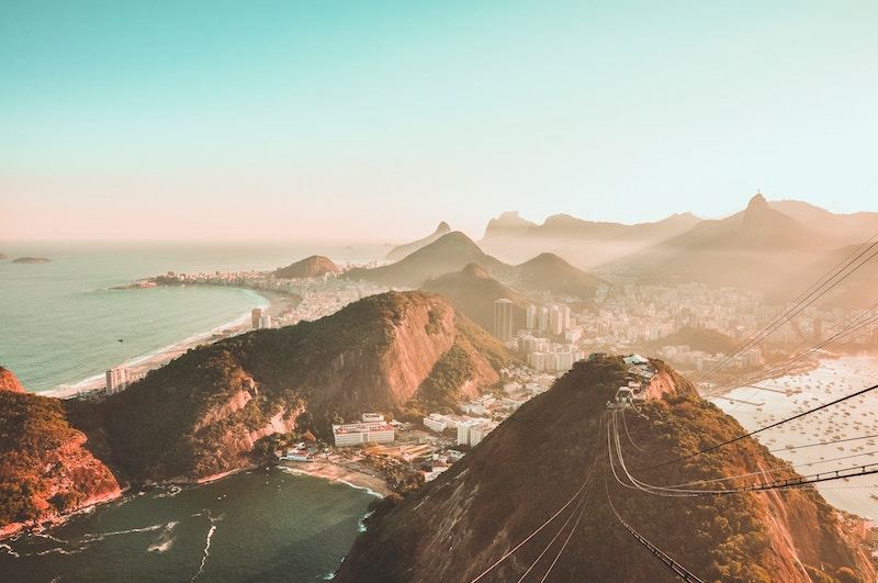 Top view of Rio de Janeiro in Brazil