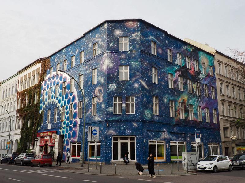 Street art près du musée Urban Nation à Berlin