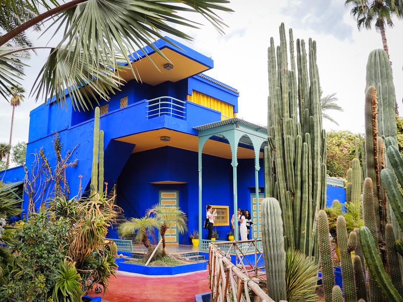 Pavillon principal au Jardin Majorelle de Marrakech - À inclure absolument à votre itinéraire au Maroc
