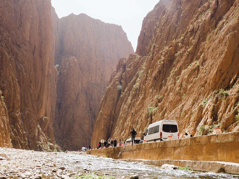 Gorges du Toudra - itinéraire au Maroc