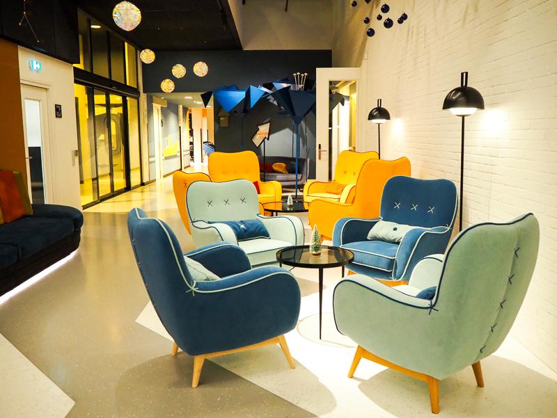 Lobby de l'hôtel Room Mate Bruno de Rotterdam