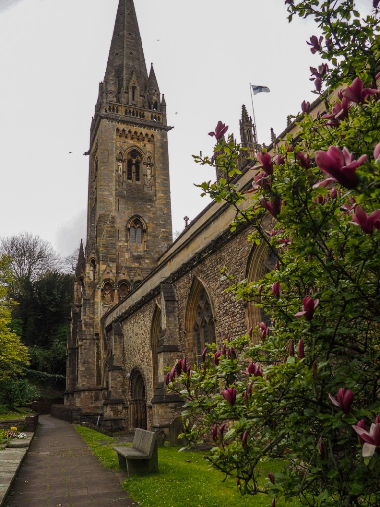 La cathédrale de Llandaff au printemps