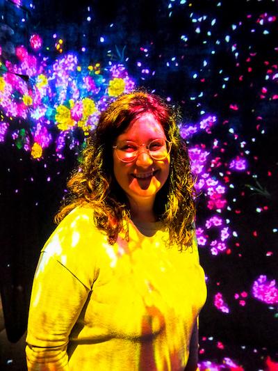 Annie Anywhere à l'expo teamLab Borderless de Tokyo