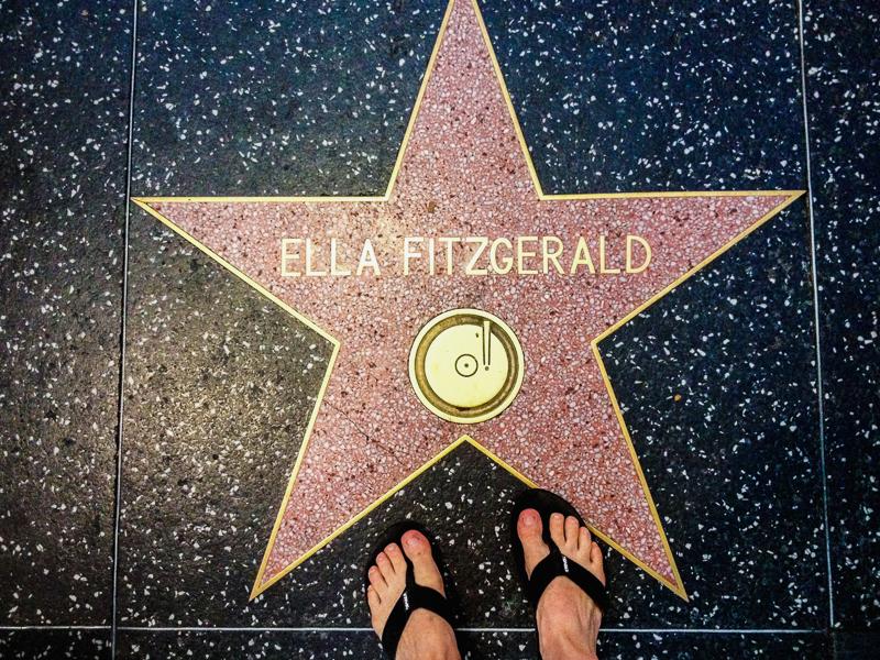 Étoile d'Ella Fitzgerald sur le Walk of Fame à Hollywood, Los Angeles