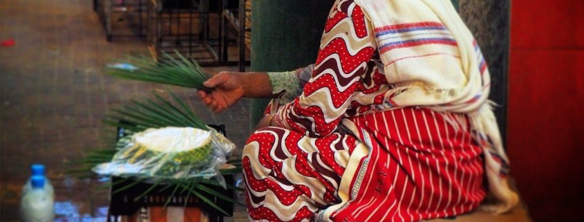 Berber woman in Souk in Tangier