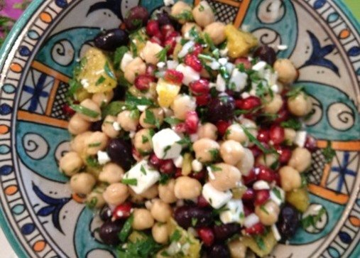 chickpea mint salad