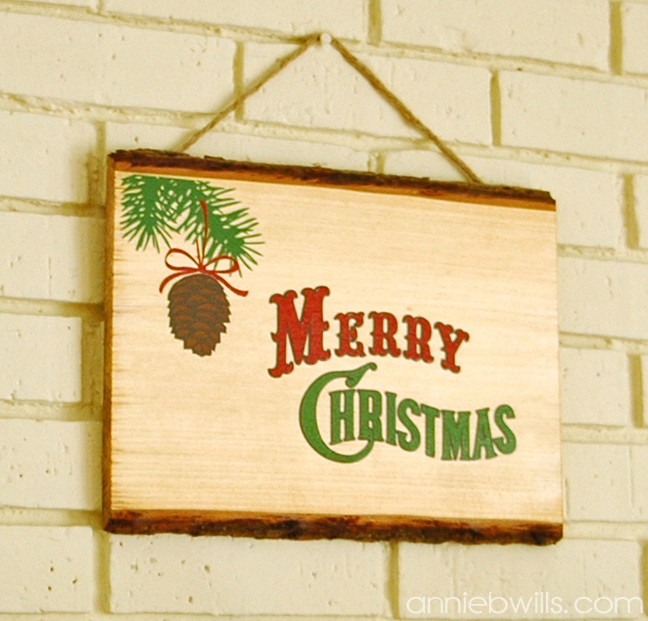 Rustic Merry Christmas Sign by Annie Williams - Final