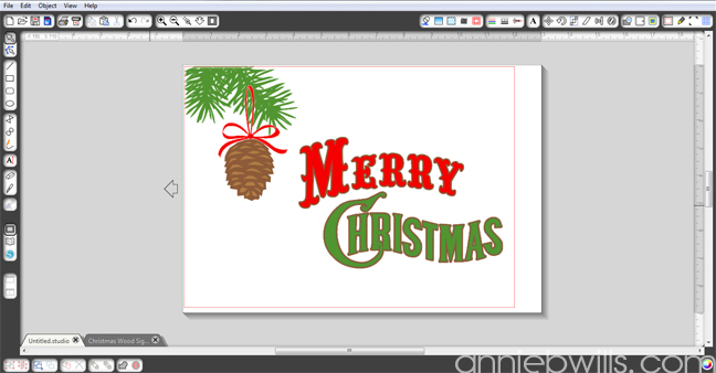Rustic Merry Christmas Sign by Annie Williams - Screenshot 2