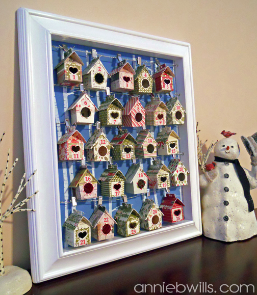 Birdhouse Advent Calendar by Annie Williams - Side