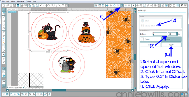 6 Print and Cut Halloween Treat Bags by Annie Williams - Internal Offset