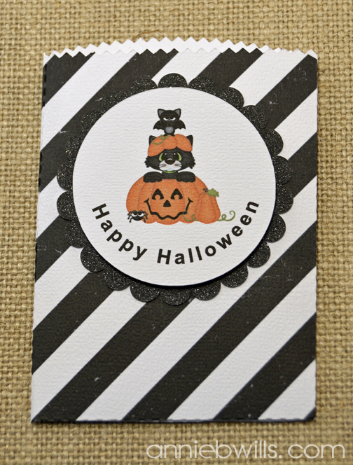 Print and Cut Halloween Treat Bags by Annie Williams - Black Detail