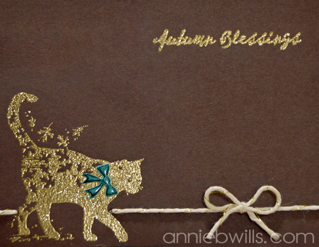 WW Autumn Blessings Card by Annie Williams - Detail