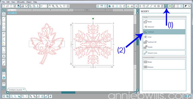 3 Split Monogram Napkins by Annie Williams - Subtract Rectangle