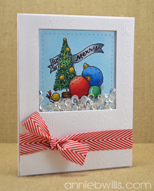 Bottlebrush Tree Shaker Card by Annie Williams - Final