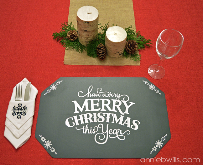 Holiday Chalkboard Placemats by Annie Williams - Christmas