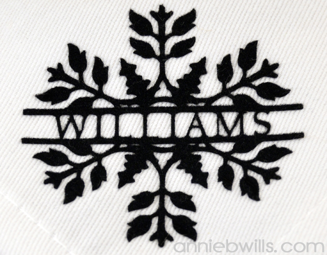 Split Monogram Napkins by Annie Williams - Snowflake Detail