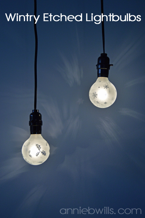 Wintry Etched Lightbulbs by Annie Williams - Main Photo