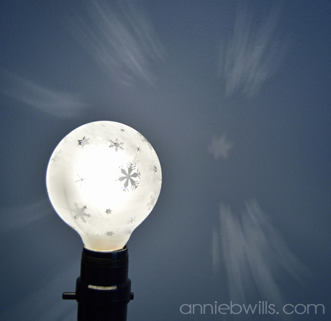 Wintry Etched Lightbulbs by Annie Williams - Snowflake Detail 2