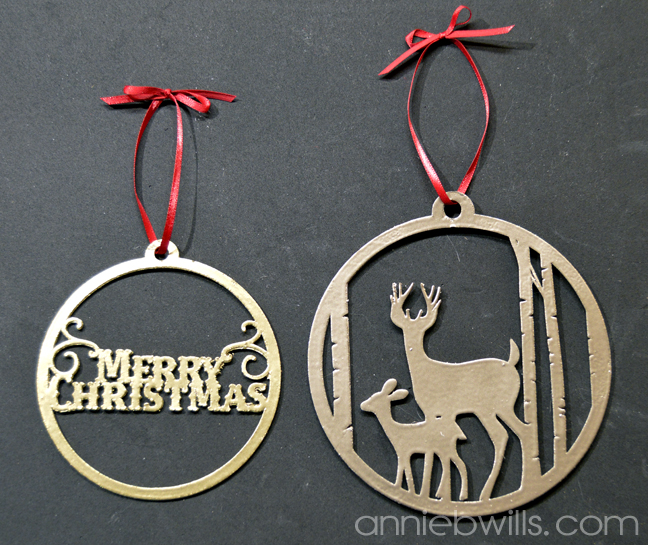 faux metal christmas ornaments by annie williams final - Metal Reindeer Christmas Decorations