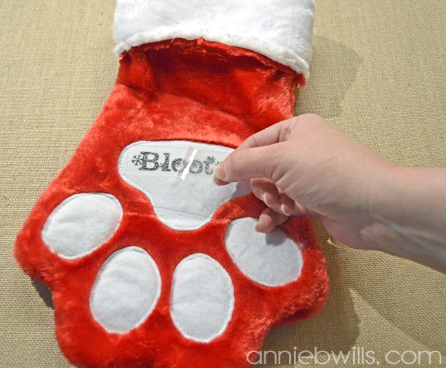 Personalized Pet Stocking by Annie Williams - Heat Transfer