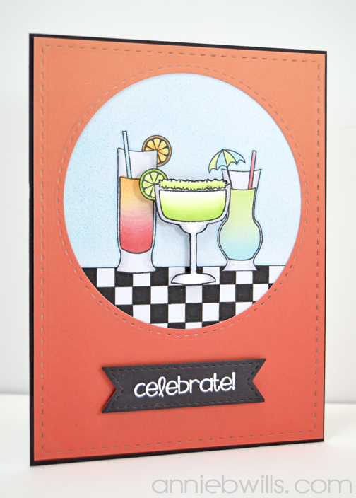 Celebrate with Tropical Drinks Card by Annie Williams - Main