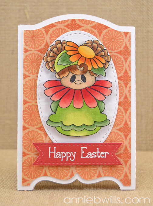Easter Flowers Shadow Box Card by Annie Williams - Main